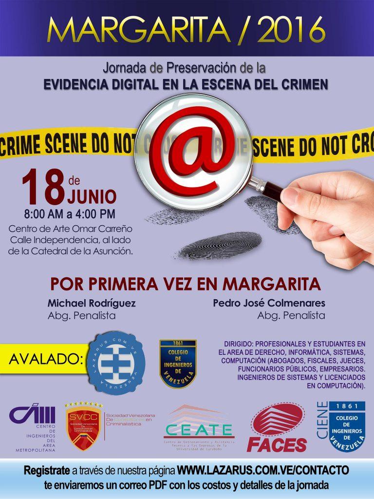 JORNADA PRESERVACIÓN DE LA EVIDENCIA DIGITAL EN LA ESCENA DEL CRIMEN.