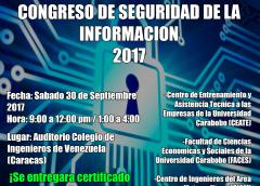 CONGRESO DE LA SEGURIDAD DE LA INFORMACIÓN 2017 (Evento Social Gratuito)