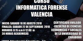 2do Curso Informática Forense (Presencial Valencia 2018)