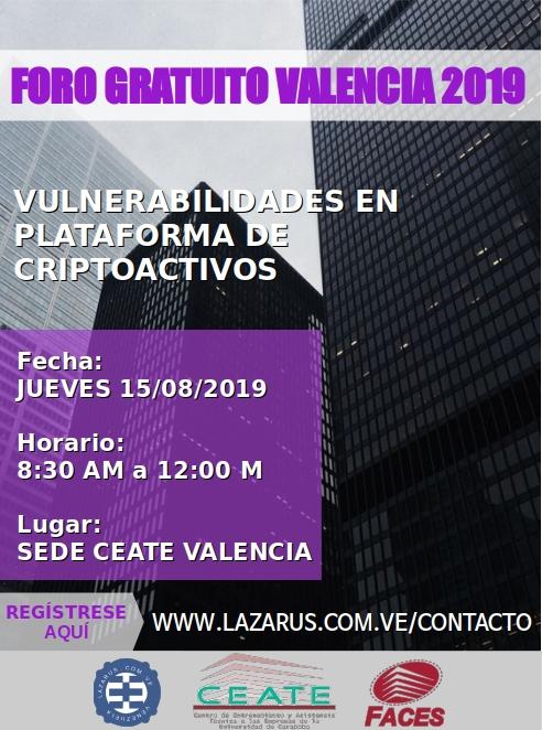 FORO GRATUITO VALENCIA 2019