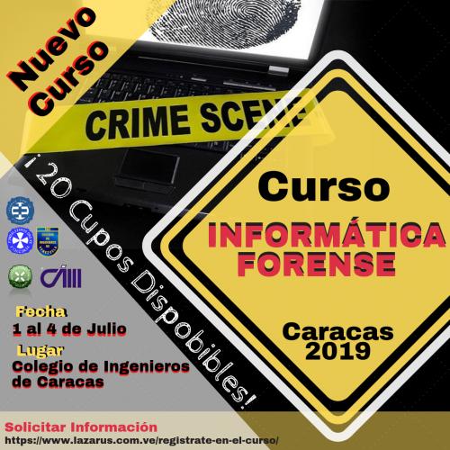Curso Presencial Informática Forense (Caracas 2019)