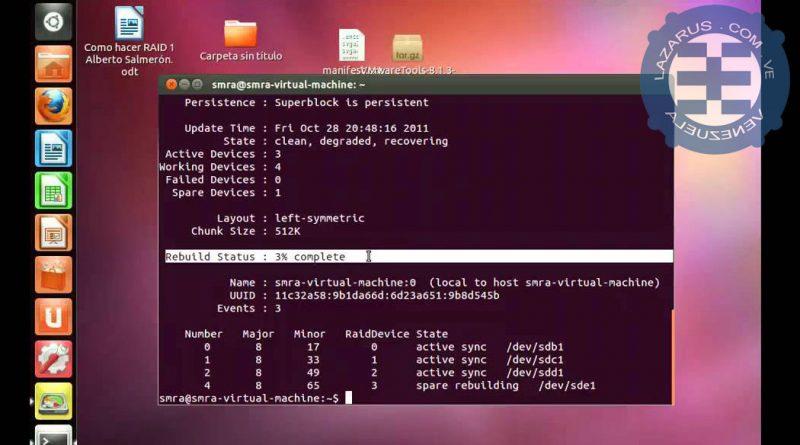 Manual y comandos RAID
