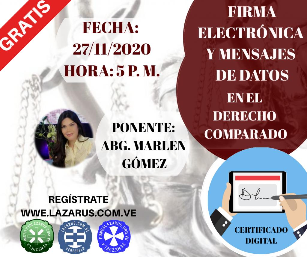 FIRMA ELECTRONICA Y MENSAJES DE DATOS EN EL DERECHO COMPARADO.