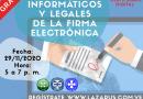 ASPECTOS INFORMATICOS Y LEGALES DE LA FIRMA ELECTRONICA.