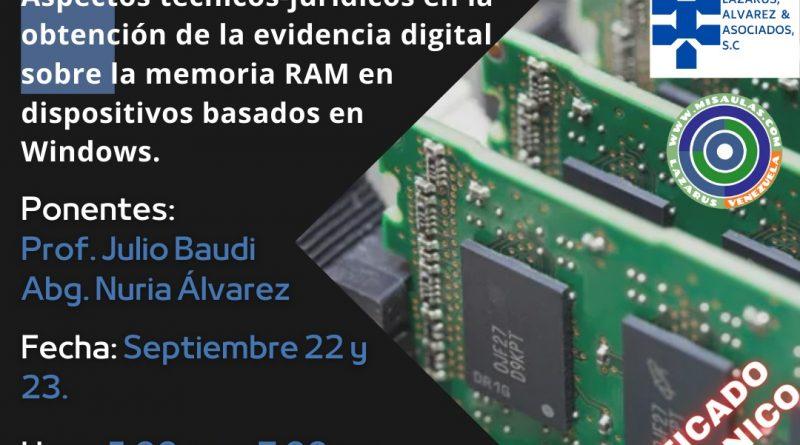 Evidencia Digital la Memoria RAM